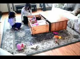 diy coffee table with hidden toy box trundle youtube