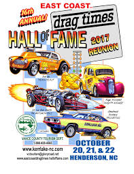 Vehicle Bill Of Sale Nc by East Coast Drag Racing Hall Of Fame