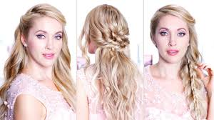 easy holiday hairstyles for medium long hair hair tutorial for