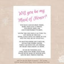 how to ask of honor poem will you be my of honor poem card be my of honor cards