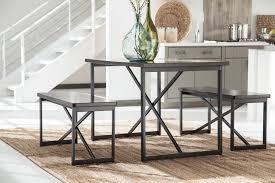 Ashley Outdoor Furniture Signature Design By Ashley Joring Dark Brown 3 Piece Rectangular