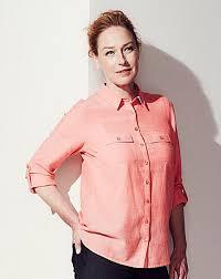 fashion orange chambray shirt womens blouses u0026 shirts orange