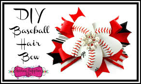 bow supplies how to make a baseball hair bow with a real baseball hairbow