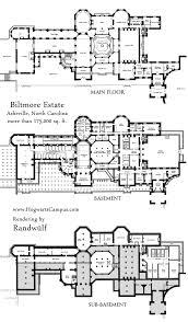 Large Estate House Plans Scenic Biltmore Estate Floor Plan Mansion With Basement Plans