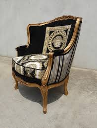 Versace Armchair Black U0026 Gold Medusa Chairs With Versace Influence Timeless