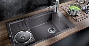Moderngreykitchensinkgranitecompositesinkcontemporary - Kitchen sinks granite composite