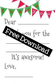 free printable thank you card for they will
