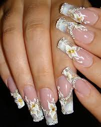 perfect your special day with an amazing wedding manicure design