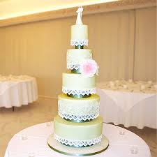 5 Tier Cake Lace Wedding Cake At Froyle Park