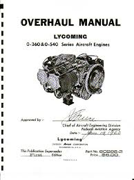 lycoming o 360 o 540 overhaul piston engines