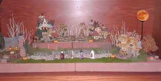 halloween village displaying a boyds bears collection the enchanted manor