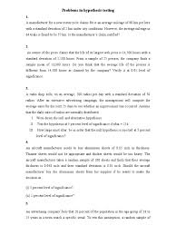 problems in hypothesis testing statistical hypothesis testing