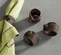 ring set tava napkin ring set of 4 pottery barn