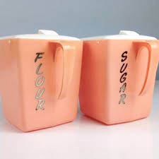 pink kitchen canisters shop flour sugar canister set on wanelo