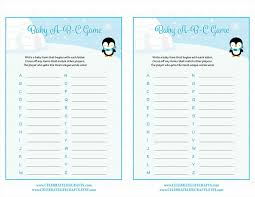baby shower memory game home design