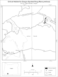 County Map Of Oregon by Federal Register Endangered And Threatened Wildlife And Plants