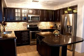 Brown And White Kitchen Cabinets White Or Dark Kitchen Cabinets With Regard To White Kitchen Or