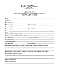 Template For Obituary free obituary templates 20 free word excel pdf format