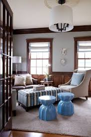 sea of blue beach style family room paint colors w dark trim
