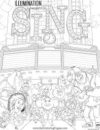 movie sing coloring pages printable