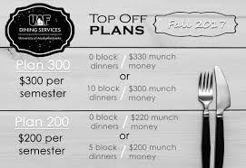 top off plans dining services