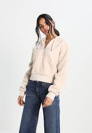 wood wood inger hoodie white zalando co uk