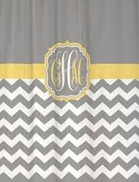 Grey And Yellow Shower Curtains Yellow Fabric Shower Curtain Foter