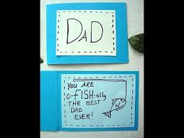 diy fathers day card fish fisherman dad youtube
