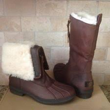 womens ugg boots usa ugg australia womens renatta stout leather wedge boots