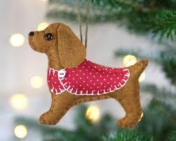 cocker spaniel ornament felt dog christmas ornament millie