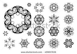 celtic knotwork tattoo design set vector stock vector 409857838