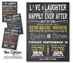 laughter before happily after rehearsal dinner