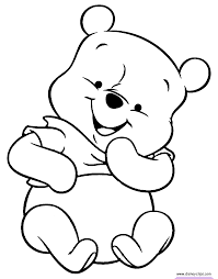 pooh bear coloring ba pooh coloring pages disney coloring