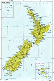 Map New Zealand Large Detailed Political Map Of New Zealand With Roads And Cities