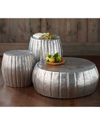 Check Out These Bargains On Silver Hammered Drum Coffee Table
