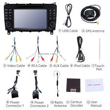 7 inch car dvd player for mercedes benz cls w219 with gps radio tv