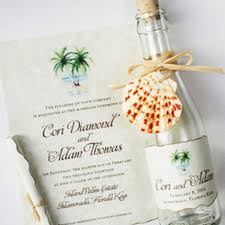 tropical themed wedding invitations watercolor wedding invitations unique custom wedding invitation