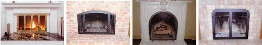 glass fireplace doors dact us