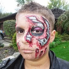 Terminator Halloween Costume Halloween 2011 Amanda U0027s Elaborate Eyes Face U0026 Body Painting