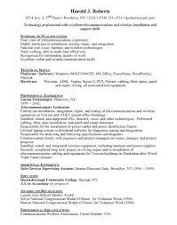 telecom technician cover letter