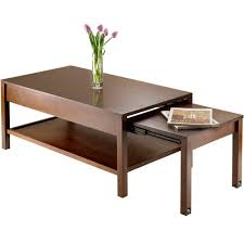 Expandable Coffee Table Brandon Expandable Coffee Table Antique Walnut Walmart
