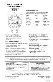 accusplit stopwatch a601x 3v user manual