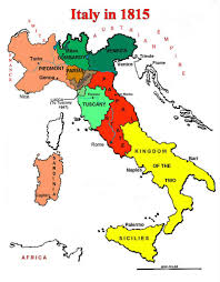 Itsly Map Map Of Italian States In 1815 географические карты Pinterest