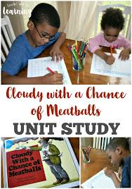 free cloudy chance meatballs unit study free