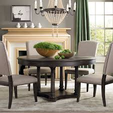 brwon circle kitchen table and chairs set styleshouse