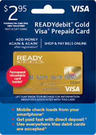 reloadable cards ready debit gold prepaid cards