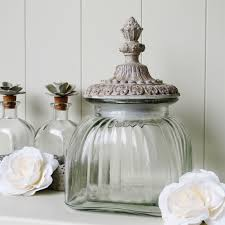 glass lidded storage jar bliss and bloom ltd