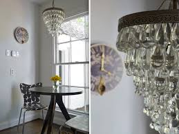 Clarissa Glass Drop Chandelier Clarissa Glass Drop With Periwinkle Blue Bathroom Traditional And