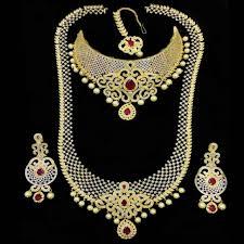 bridal gold set bridal gold plated wedding necklace set ruperhat