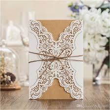 wedding invitations lace vintage laser cut wedding invitations white birthday party
